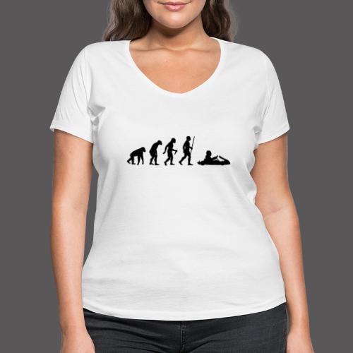 Kartevolution - Frauen Bio-T-Shirt mit V-Ausschnitt von Stanley & Stella