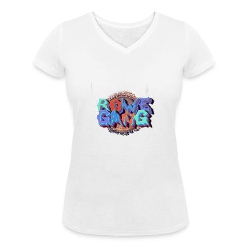 RoweGang Basic Logo - Stanley & Stellan naisten v-aukkoinen luomu-T-paita