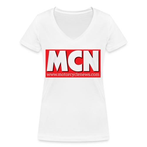 mcnlogo url - Women's Organic V-Neck T-Shirt by Stanley & Stella