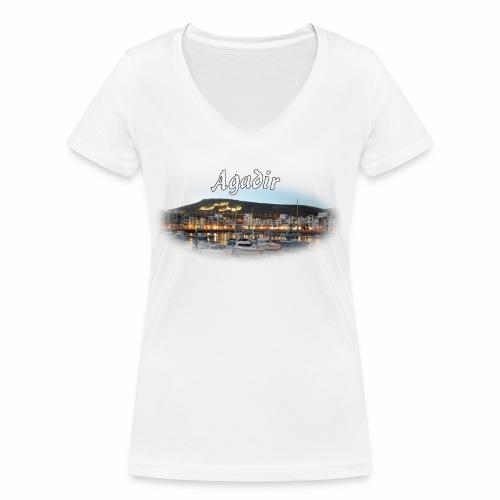 Agadir, Morocco - T-shirt bio col V Stanley & Stella Femme