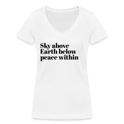happy times - Vrouwen bio T-shirt met V-hals van Stanley & Stella
