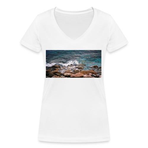 Handy Hülle Meer - Frauen Bio-T-Shirt mit V-Ausschnitt von Stanley & Stella