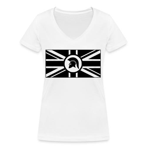 early_reggae_black_and_white - Frauen Bio-T-Shirt mit V-Ausschnitt von Stanley & Stella