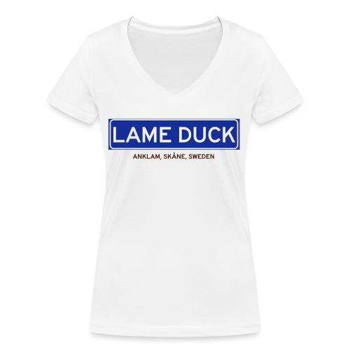 Anklam, Badly Translated - Ekologisk T-shirt med V-ringning dam från Stanley & Stella