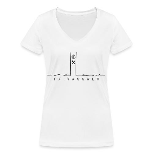 Taivassalo -printti - Stanley & Stellan naisten v-aukkoinen luomu-T-paita