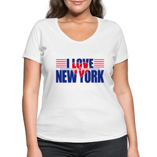 love new york - T-shirt bio col V Stanley & Stella Femme