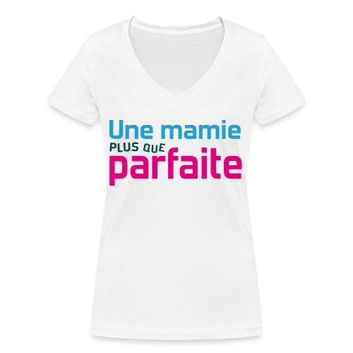 Uen mamie plus que parfaite - T-shirt bio col V Stanley & Stella Femme