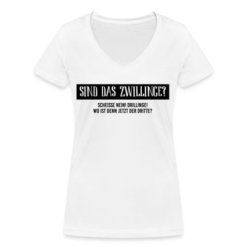 Sind das Zwillinge? - Frauen Bio-T-Shirt mit V-Ausschnitt von Stanley & Stella
