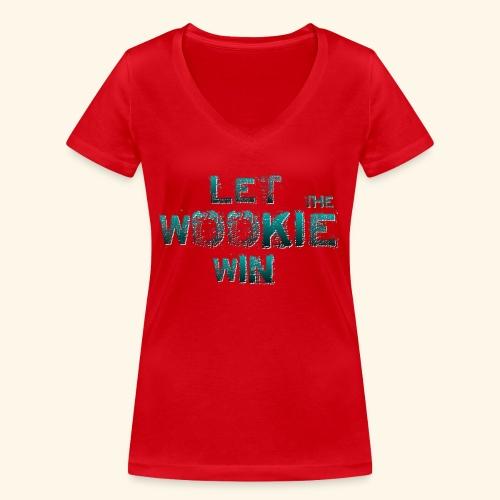 Let The Wookie Win, design 2. - Økologisk Stanley & Stella T-shirt med V-udskæring til damer