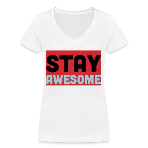 425AEEFD 7DFC 4027 B818 49FD9A7CE93D - Women's Organic V-Neck T-Shirt by Stanley & Stella