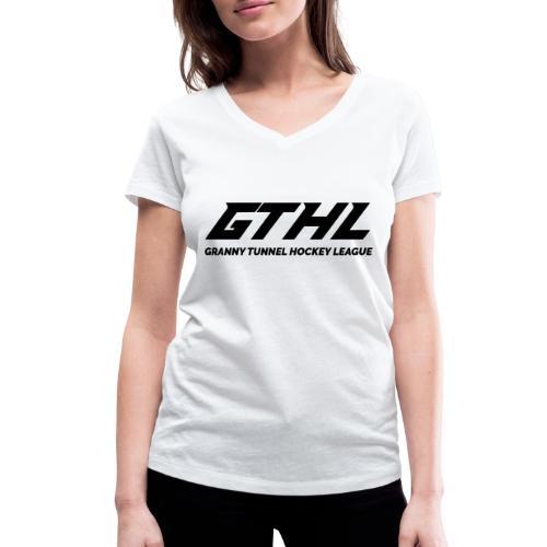 GTHL - Granny Tunnel Hockey League - Stanley & Stellan naisten v-aukkoinen luomu-T-paita