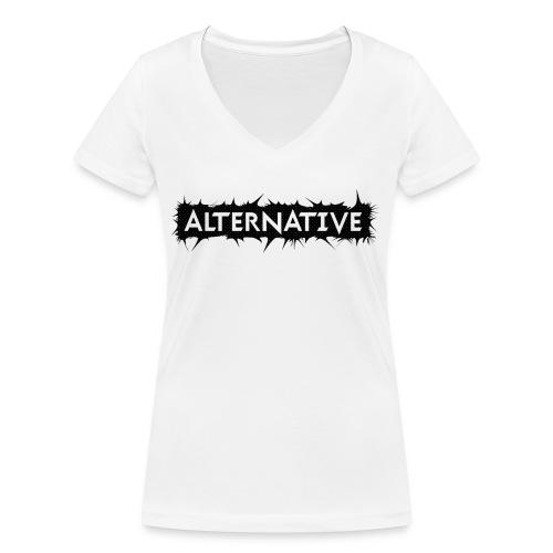 Spike T-shirt White - Ekologiczna koszulka damska z dekoltem w serek Stanley & Stella