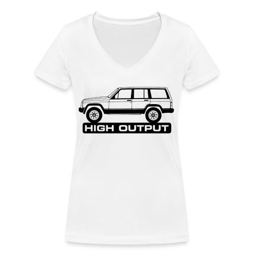 Jeep XJ High Output - Autonaut.com - Women's Organic V-Neck T-Shirt by Stanley & Stella