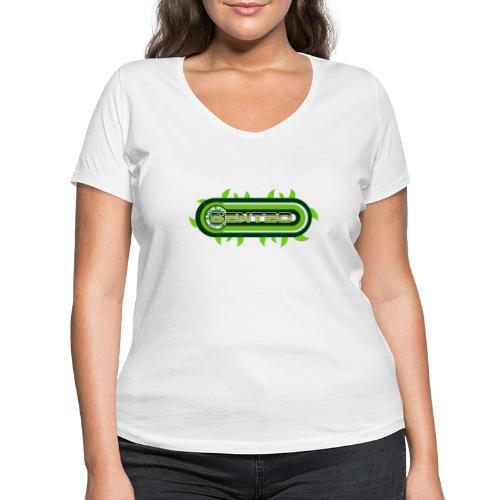 GREEN LOGO - Camiseta ecológica mujer con cuello de pico de Stanley & Stella