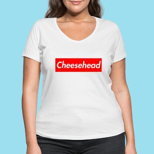 CHEESEHEAD Supmeme - Frauen Bio-T-Shirt mit V-Ausschnitt von Stanley & Stella