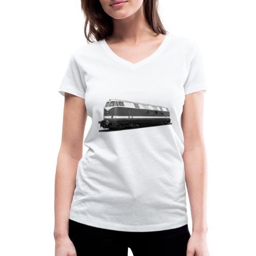 Lokomotive Diesel V 180 Deutsche Reichsbahn DDR - Frauen Bio-T-Shirt mit V-Ausschnitt von Stanley & Stella