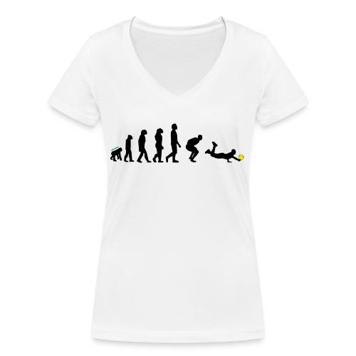 Evolution Defense - T-shirt ecologica da donna con scollo a V di Stanley & Stella