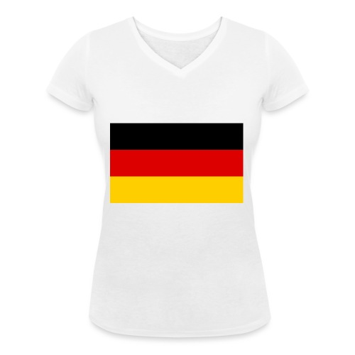 2000px Flag of Germany svg - Frauen Bio-T-Shirt mit V-Ausschnitt von Stanley & Stella