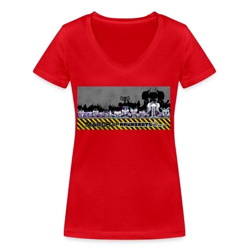 #MarchOfRobots ! LineUp Nr 2 - Økologisk Stanley & Stella T-shirt med V-udskæring til damer