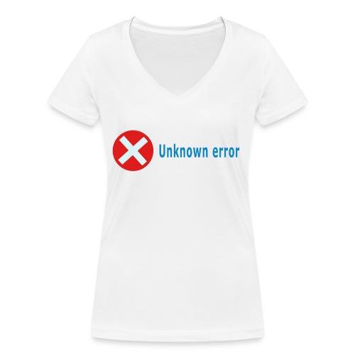 Unkown Error - Stanley & Stellan naisten v-aukkoinen luomu-T-paita
