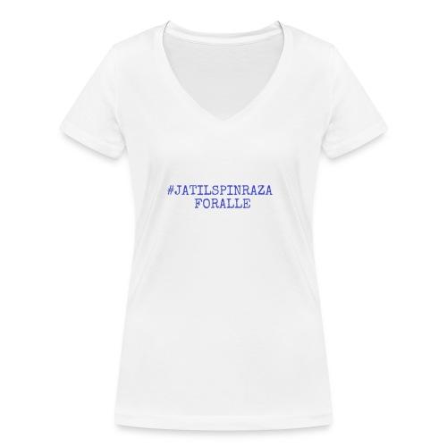 #jatilspinraza - blå - Økologisk T-skjorte med V-hals for kvinner fra Stanley & Stella