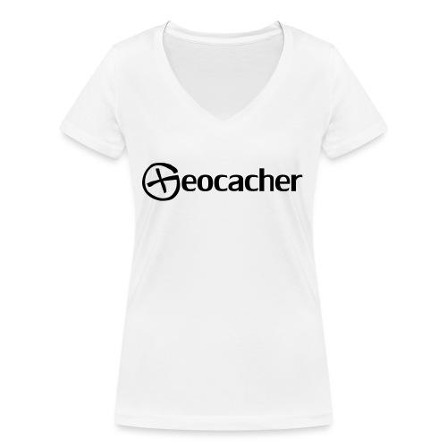 Geocacher - Stanley & Stellan naisten v-aukkoinen luomu-T-paita