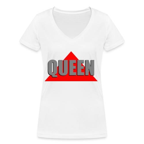 Queen, by SBDesigns - T-shirt bio col V Stanley & Stella Femme