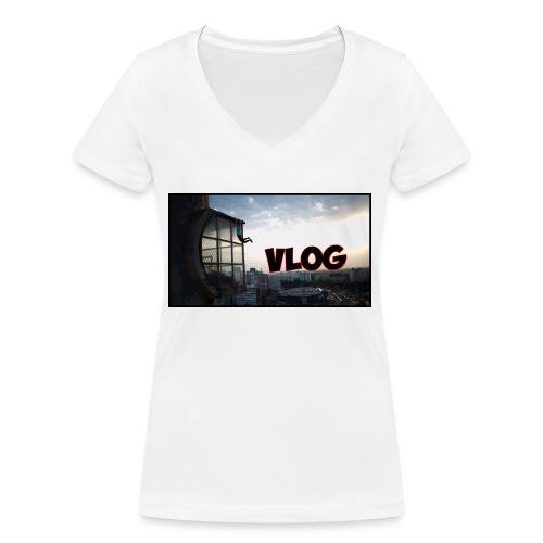 Vlog - Women's Organic V-Neck T-Shirt by Stanley & Stella
