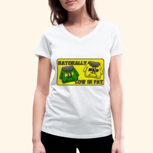 drapeau naturallylowinfat - T-shirt bio col V Stanley & Stella Femme