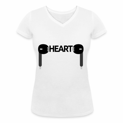 ListenToYourHeart - Ekologiczna koszulka damska z dekoltem w serek Stanley & Stella