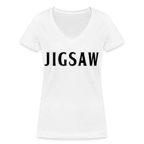 JigSaw Black - Women's Organic V-Neck T-Shirt by Stanley & Stella