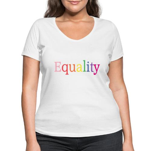 Equality | Regenbogen | LGBT | Proud - Frauen Bio-T-Shirt mit V-Ausschnitt von Stanley & Stella