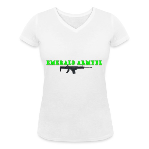 EMERALDARMYNL LETTERS! - Vrouwen bio T-shirt met V-hals van Stanley & Stella