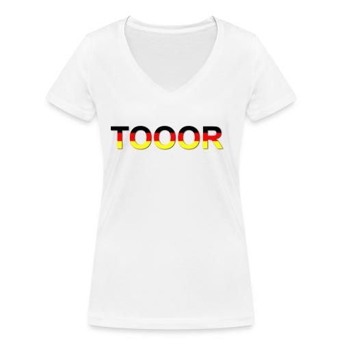 TOOOR-Schatten-transparen - Frauen Bio-T-Shirt mit V-Ausschnitt von Stanley & Stella