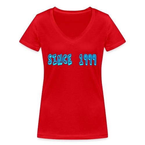 Since 1999 - Stanley & Stellan naisten v-aukkoinen luomu-T-paita