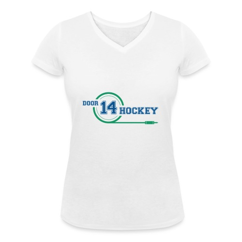 D14 HOCKEY LOGO - Women's Organic V-Neck T-Shirt by Stanley & Stella