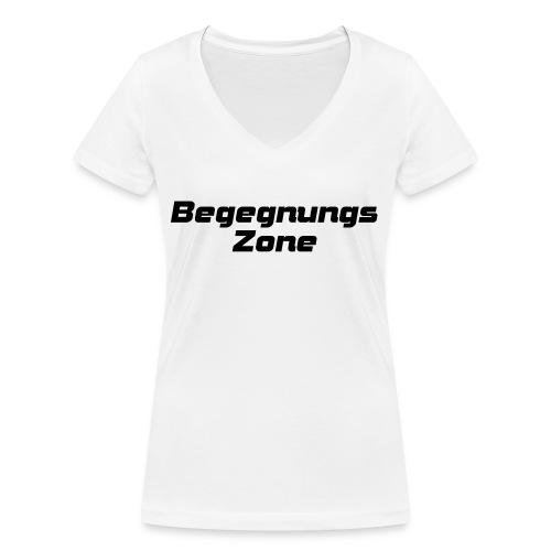 Begegnungszone - Frauen Bio-T-Shirt mit V-Ausschnitt von Stanley & Stella