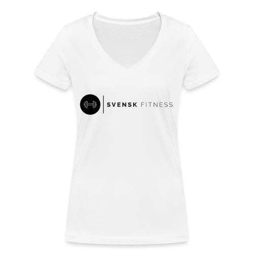 Svart logo - Ekologisk T-shirt med V-ringning dam från Stanley & Stella