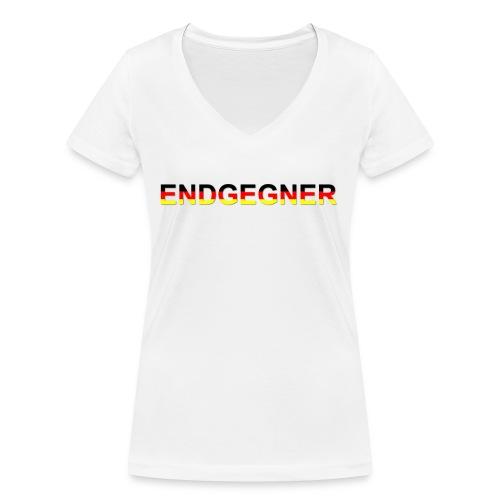 ENDGEGNER - Frauen Bio-T-Shirt mit V-Ausschnitt von Stanley & Stella
