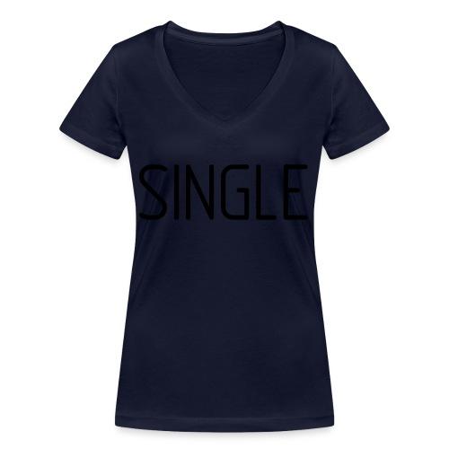 Single - Frauen Bio-T-Shirt mit V-Ausschnitt von Stanley & Stella