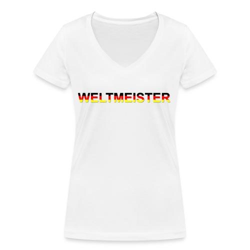 WELTMEISTER - Frauen Bio-T-Shirt mit V-Ausschnitt von Stanley & Stella