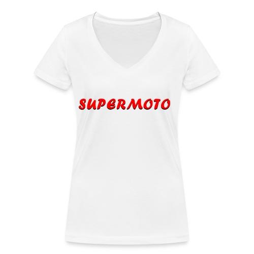 SupermotoLuvan - Ekologisk T-shirt med V-ringning dam från Stanley & Stella