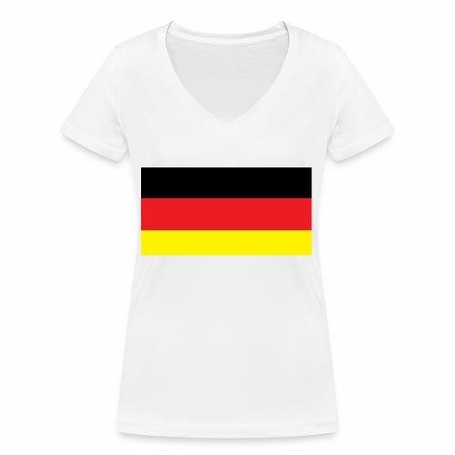 Deutschland Weltmeisterschaft Fußball - Frauen Bio-T-Shirt mit V-Ausschnitt von Stanley & Stella