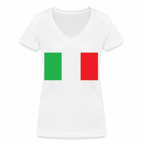 Italien Fußball - Frauen Bio-T-Shirt mit V-Ausschnitt von Stanley & Stella