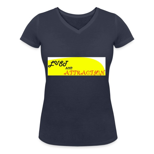 lust ans attraction - Women's Organic V-Neck T-Shirt by Stanley & Stella