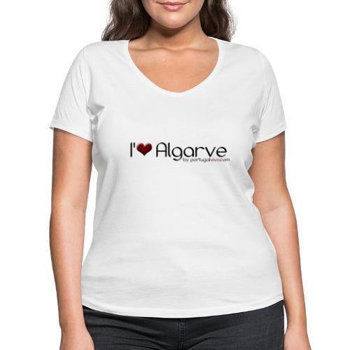 I Love Algarve - T-shirt bio col V Stanley & Stella Femme