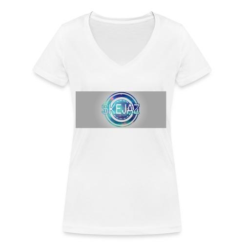 LOGO WITH BACKGROUND - Women's Organic V-Neck T-Shirt by Stanley & Stella