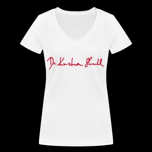 stuhl signatur - Frauen Bio-T-Shirt mit V-Ausschnitt von Stanley & Stella