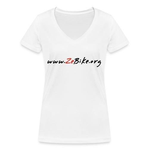 wwwzebikeorg s - T-shirt bio col V Stanley & Stella Femme