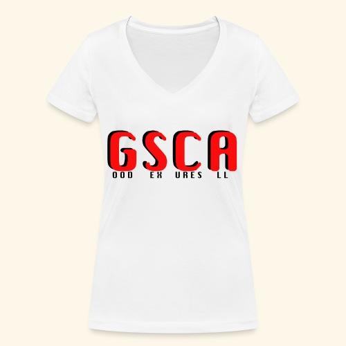 GSCA - T-shirt ecologica da donna con scollo a V di Stanley & Stella
